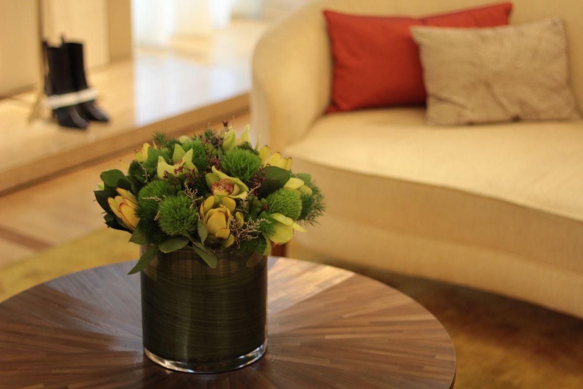 decoración floral oficinas